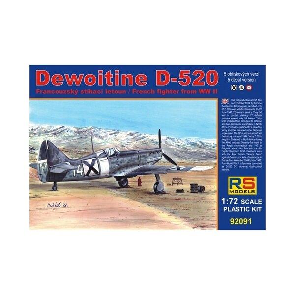 RS-modellen 92091 Dewoitine D-520 1/72 BULGARIJE