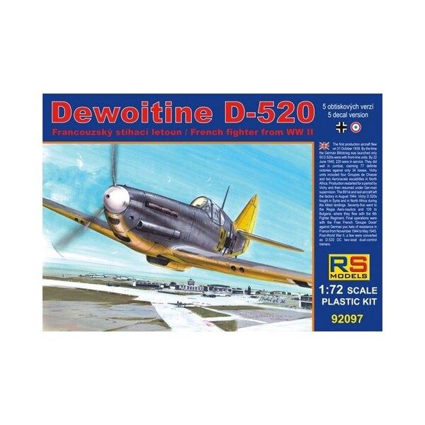 RS-modellen 92097 Dewoitine D-520 1/72 LUFTWAFFE