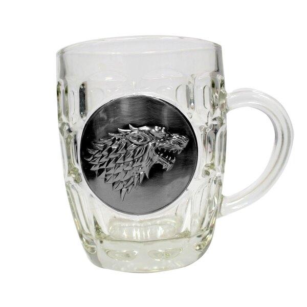 Game of Thrones Beer Glass Stark Metallic Logo