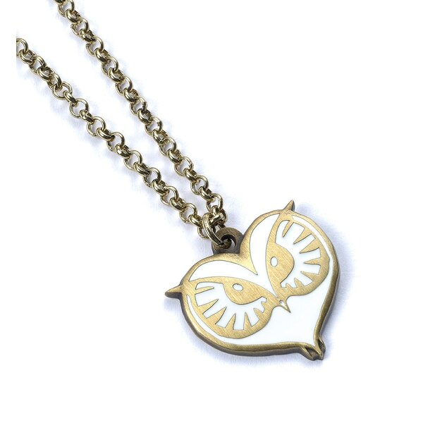 Fantastic Beasts Pendant & Necklace Owl Face (antique brass plated)