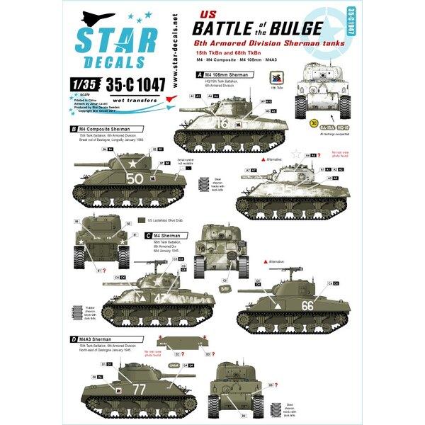 Ardennenoffensief.6e Pantserdivisie Shermans