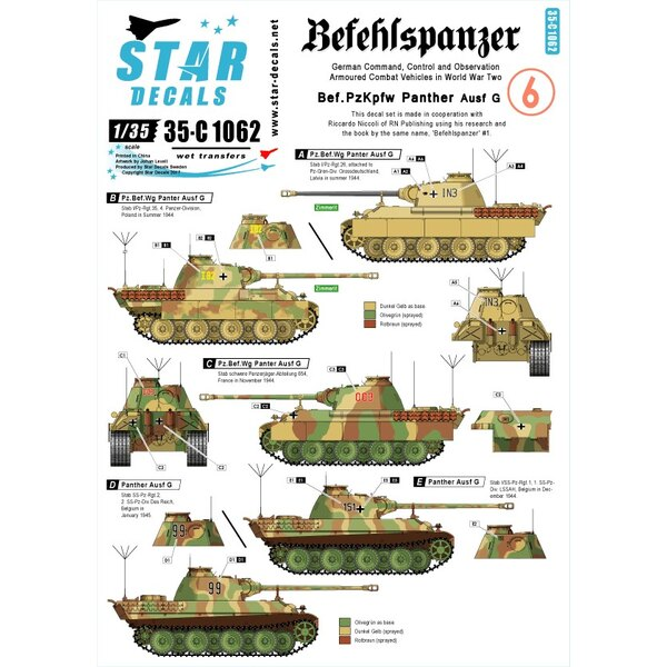 Befehlspanzer 6. Bef.PzKpfw Panther Ausf.G