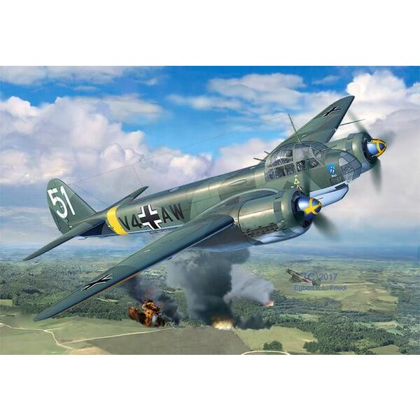 Junkers Ju-88A-4 (ex ICM) A model reproduction of the Ju88, one of the most versatile German combat aircraft of the Second World