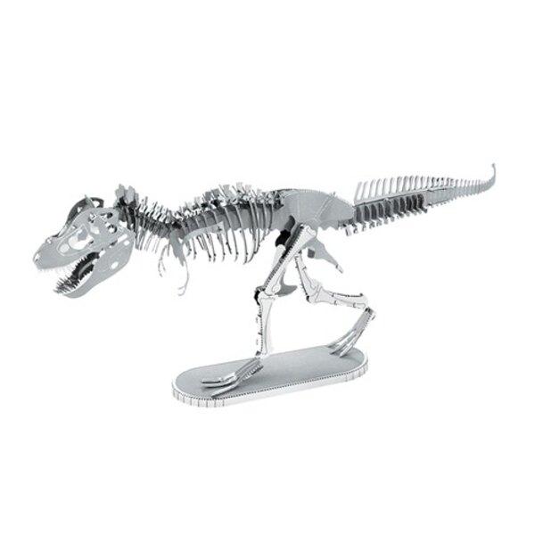 MetalEarth Dinosaurs: TYRANNOSURE REX SKELET, Metaal 3D-model met 2 vellen, op kaart 12x17cm, 14+