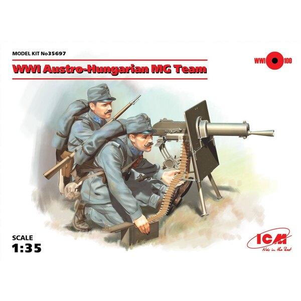 WWI-Oostenrijks-Hongaarse MG-team (2 cijfers) (100% nieuwe schimmels) De set bevat twee cijfers van Oostenrijks-Hongaarse machin