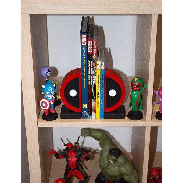 Marvel Comics boekensteunen Logo Deadpool 16 cm