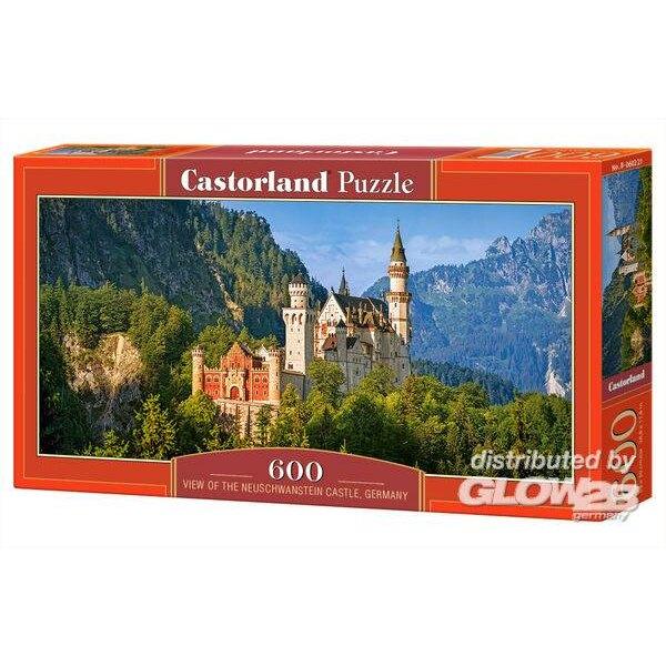 Puzzel Uitzicht op het Neuschwanstein Kasteel, Duits Puzzel 600 onderdelen