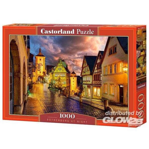 Puzzel Rothenburg bij nacht, puzzel 1000 delen