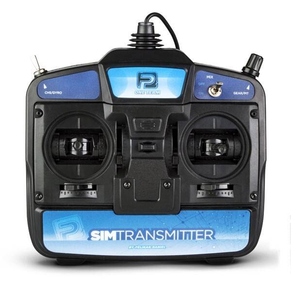 SIMTRANSMITTER6 6-WEG TRANSMITTER VOOR SIMULATOR MODE 1 - USB PORT