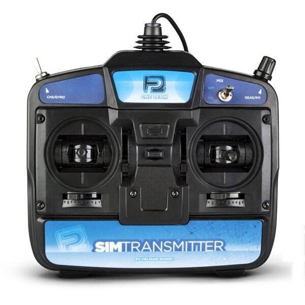 SIMTRANSMITTER6 6-WEG TRANSMITTER VOOR SIMULATOR MODE 2 - USB PORT