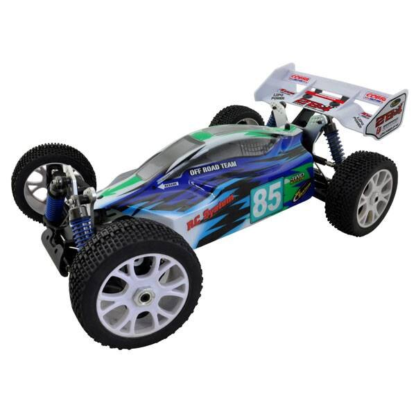 BUGGY 2B4 Ep BLUE 4X4 SUPER COMBO -ACCUS LIPO CHARGER + 3300