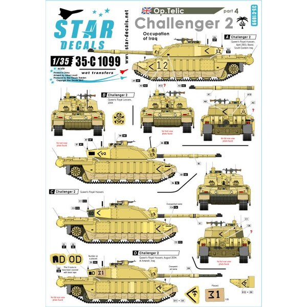Operation Telic 4. Challenger 2. Beroep van Irak.