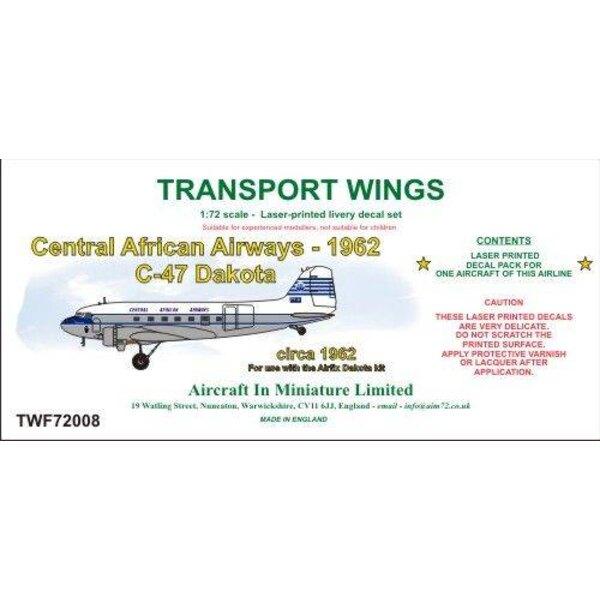 Sticker Central African Airways C-47 Dakota (circa 1962) stickerset