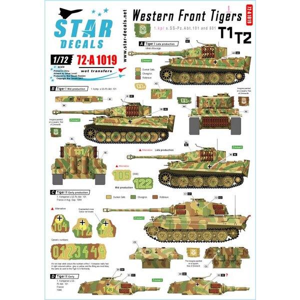 Western Front Pz.Kpfw.VI Tigers 1. Kompanie s.SS-Pz.Abt 101/501, Pz.Kpfw.VI Tiger I en Pz.Kpfw.VI Tiger II.