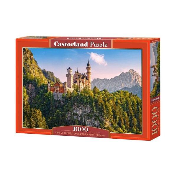 Puzzel Uitkijk op het kasteel Neuschwanstein, Duitsland