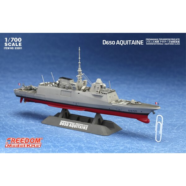 D650 Aquitaine multipurpose frigate with etched parts