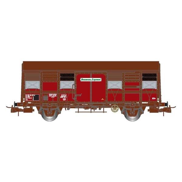 """SNCF, doos met 2 boxen met twee assen, open luiken, Gss 4-02 """"Provence Express"""", tijdperk IV"""