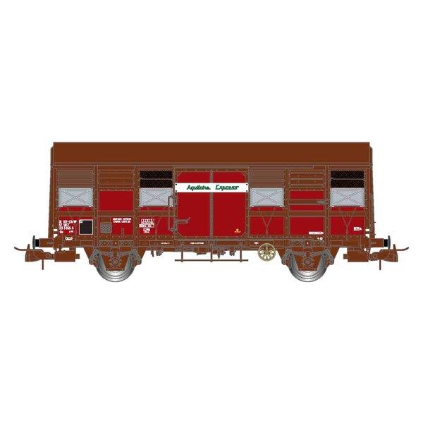 """SNCF, doos met 2 open wagons, open luiken, Gss 4-02 """"Aquitaine Express"""", tijdperk IV"""