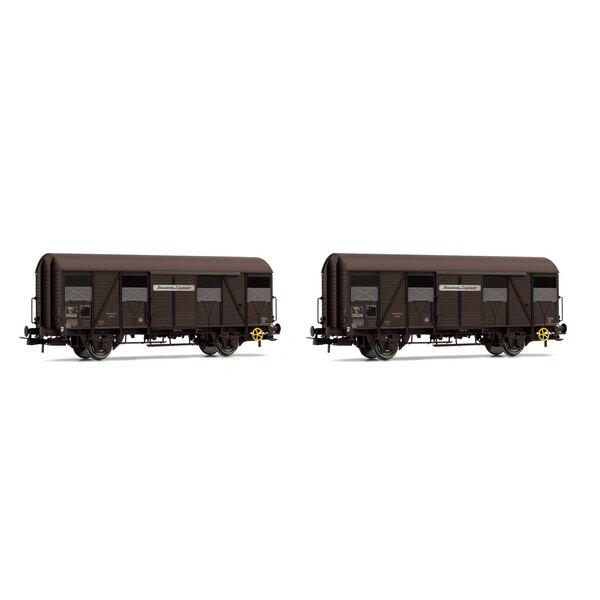 Set van 2 open boxwagon K4 met open luiken Provence Express SNCF era III