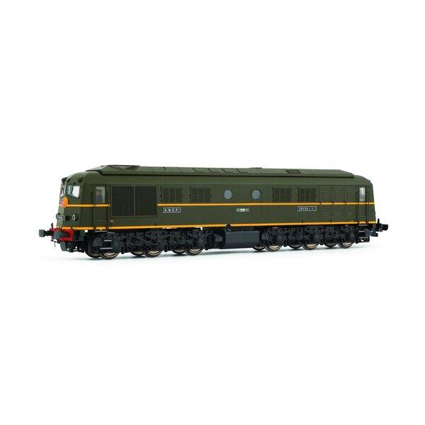 Diesellocomotief 060 DA 1 Groene kleurstelling zwart chassis SNCF tijdperk III
