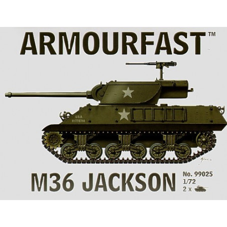 M36 Jackson: the pack includes 2 snap together tank kits