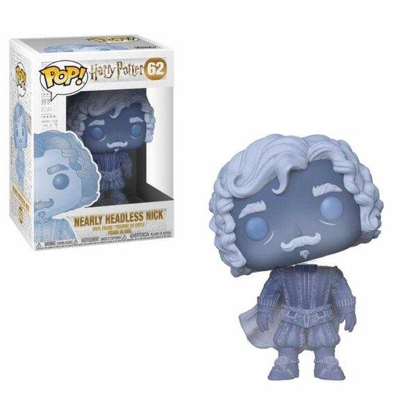 Harry Potter POP!Movies Vinyl Figure Bijna zonder hoofd Nick (blauw doorschijnend) 9 cm