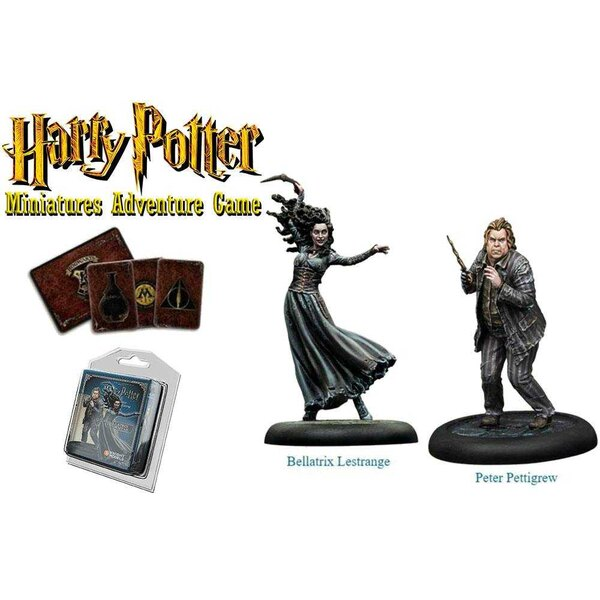 Harry Potter Miniatures 35 mm 2-pack Bellatrix & Wormtail * Engelse versie *