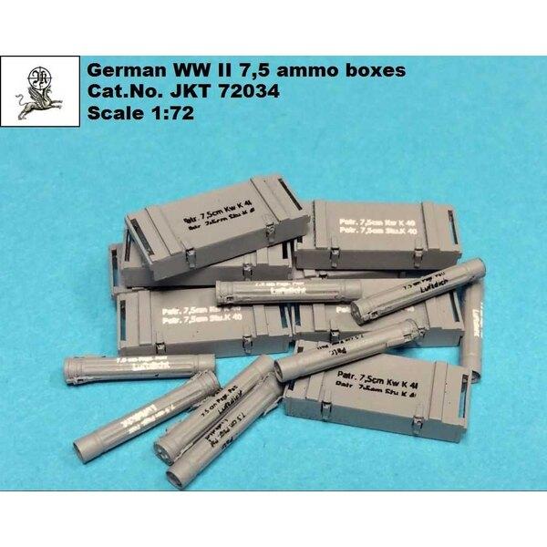 Duitse Tweede Wereldoorlog 7.5cm munitiekistjes