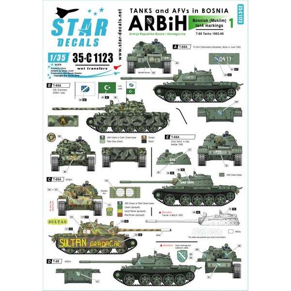 ARBiH - Armija Republike Bosne i Hercgovine (Muslim).Sovjet T-55A tanks 1992-95.Tanks & AFV's in Bosnië 1.
