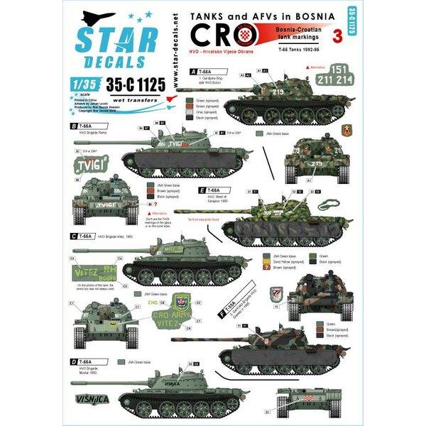 HVO - Hrvatsko Vijece Obrane (Kroatisch).Sovjet T-55 en T-55A 1992-95.Tanks en AFV's in Bosnië 3.