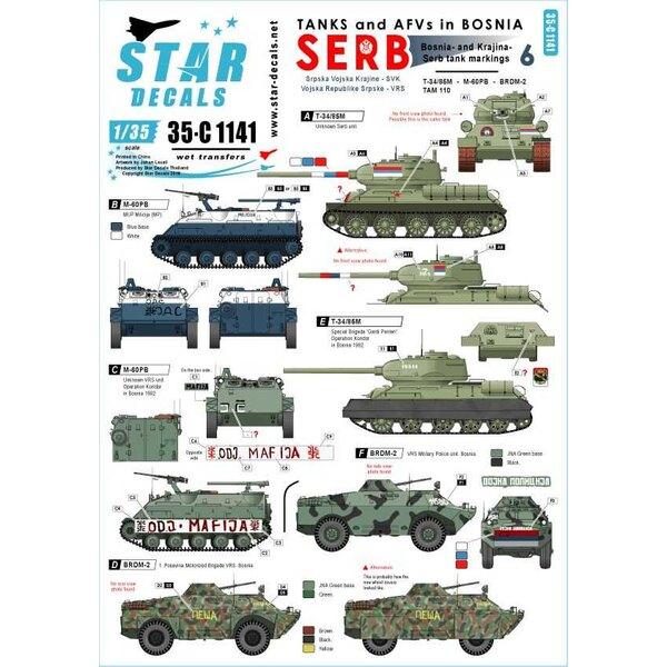 Tanks en AFV's in Bosnië 6. Servische T-34, BRDM-2, M60 PB, TAM-110 vrachtwagen