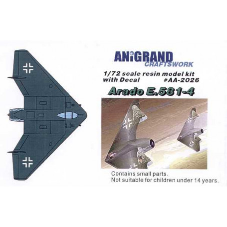 Arado Ar-E.581-4. In 1943, Arado began work on series of the Ar E.555 flying wing bomber project. This flying wing configuration
