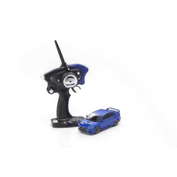 Mini-z ma020 sport 4wd mitsu lancering evo-x (kt19) blauw