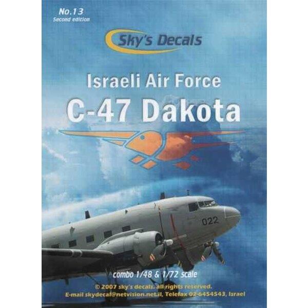 Sticker Israëlische Douglas DC-3 / Douglas C-47 Dakota combo-set (6) Keuze uit 4X-FMJ in grijs schema van 1990;4X-FNE Standaard