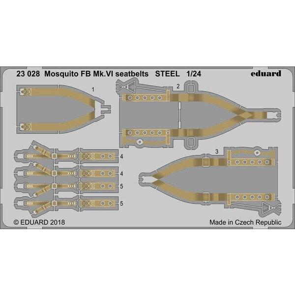 de Havilland Mosquito FB Mk.VI veiligheidsgordels STAAL 1/24 (ontworpen om te worden gebruikt met Airfix-sets)