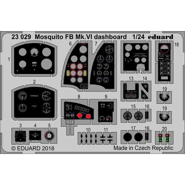 de Havilland Mosquito FB Mk.VI dashboard 1/24 (ontworpen om te worden gebruikt met Airfix-kits)