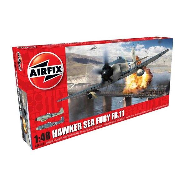 Terug in voorraad!!Hawker Sea Fury FB.11 NIEUW GEREEDSCHAP <br /> <br /> De Hawker Sea Fury, een van de meest capabele, met zui