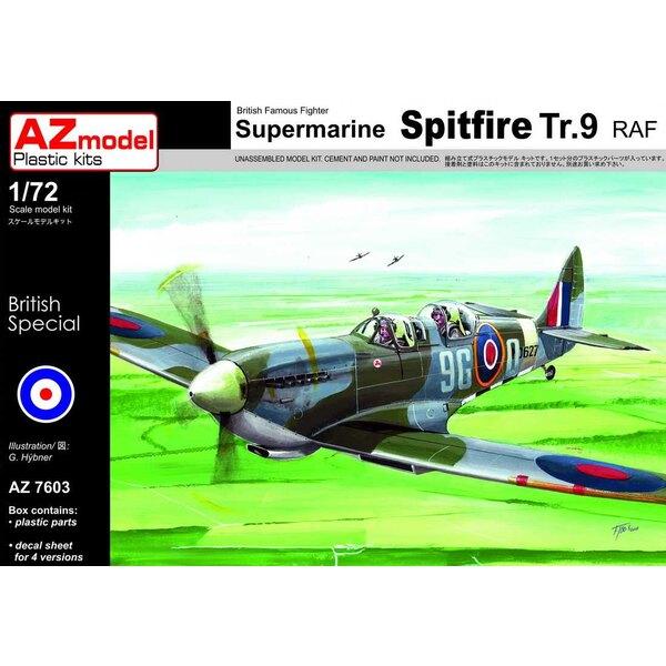 """Supermarine Spitfire Tr.9 """"RAF Trainer"""" x 4 schema's.Oud en modern"""