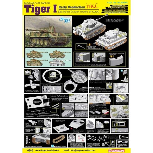 Pz.Kpfw.VI Tiger I VROEGE PROD 'TIKI' KHARKOV 1942 ragon heeft al een aantal indrukwekkende 1/35 schaalkits uitgebracht met vari