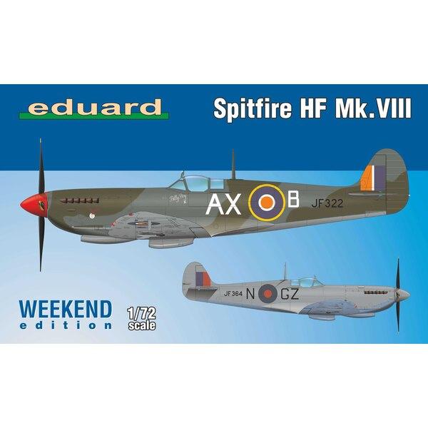 Supermarine Spitfire HF Mk.VIII Weekendeditie kit van Britse WWII jachtvliegtuigen Spitfire HF Mk.VIII op schaal 1/72.De kit
