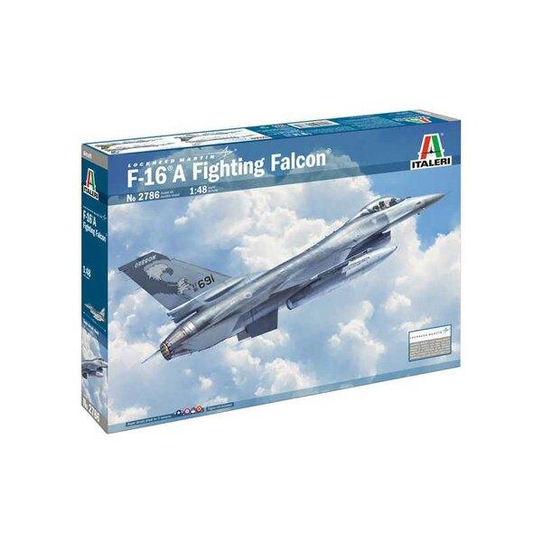 General-Dynamics F-16A Fighting Falcon SUPERSTICKERS BLAD VOOR 5 VERSIES - KLEURINSTRUCTIES BLAD De F-16 Fighting
