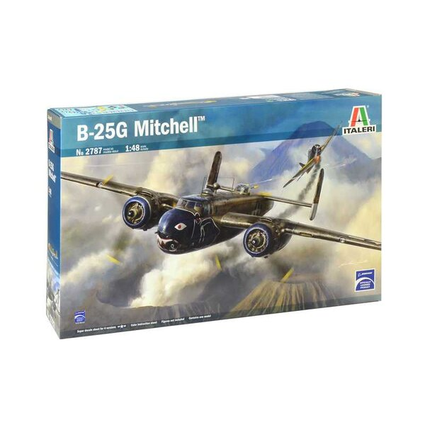 Noord-Amerikaanse B-25G Mitchell KLEUREN INSTRUCTIES BLAD - SUPERSTICKERS BLAD VOOR 4 VERSIES De Noord-Amerikaanse B-25 Mitchell