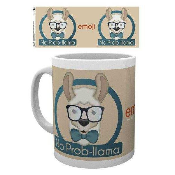 Llama Mug Emoji Prob-Lama (Bravado)