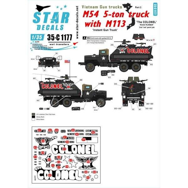 Vietnam Gun Trucks 2. 'The COLONEL' - 2e rode verfbeurt.M54 5-tons truck met een uitgehaalde M113