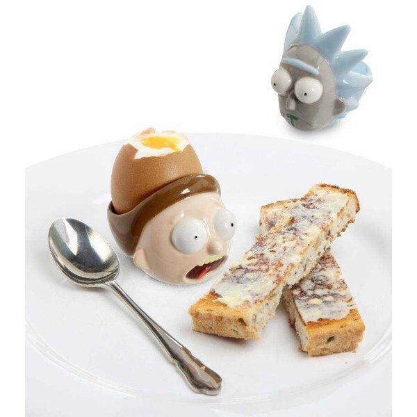 Rick & Morty pakken 2 keramische eierdopjes in Rick & Morty