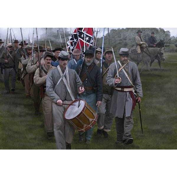 Bondgenoten op Maart Gettysburg (ACW / American Civil War era)