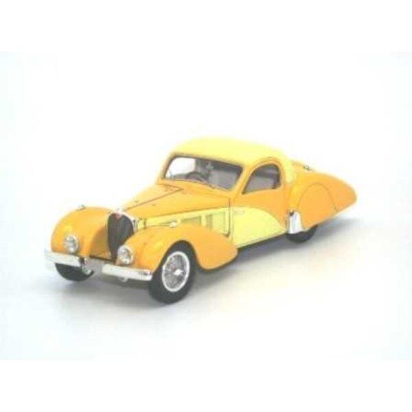 Bugatti Type 57C Atalante 1937 GEEL SN57551 2 TON