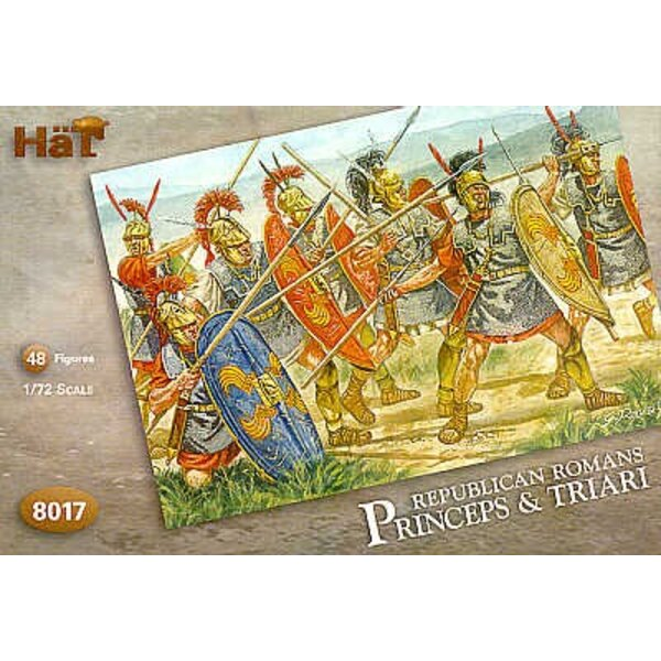 Republican Romans - Princeps and Triari. 48 infantry 20 Princeps with pilum 16 with Triari with spears and 12 infantry with swor