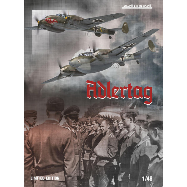 MESSERSCHMITT Bf110 C/D ADLERTAG, beperkte editie 1/48 Eduard 3911145