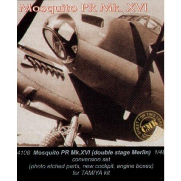 de Havilland Mosquito PR Mk.XVI twin stage Merlin engine (toebehoren voor modelbouwsets van Tamiya)